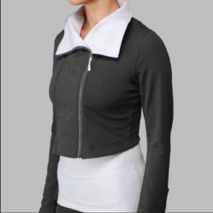 Lululemon Principal Jacket Crop Moto Grey Size 8